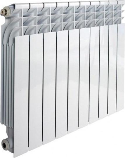 10 секций по 200 ватт каждая обеспечивают суммарную тепловую мощность в 2 киловатта.