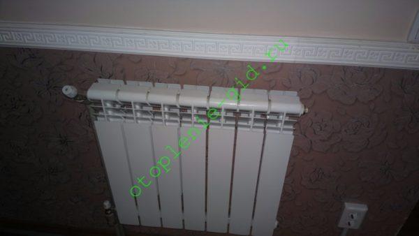 Алюминиевый секционный радиатор обеспечивает оптимальное соотношение цены и теплоотдачи.