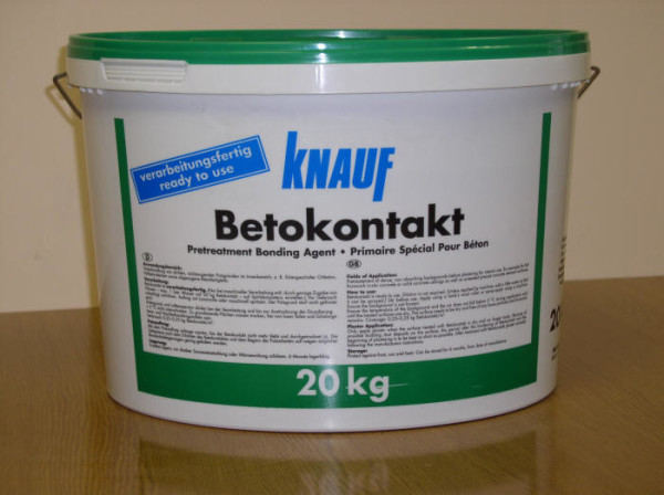 Бетоконтакт повышает сцепление бетона с клеем.