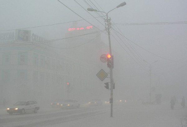 Бодрящая зимняя прохлада в столице Якутии.