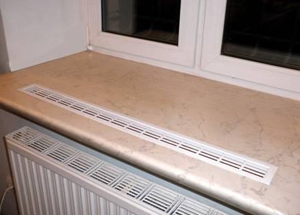 Декоративная решетка над радиатором