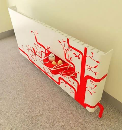 Декоративный радиатор отопления с экраном