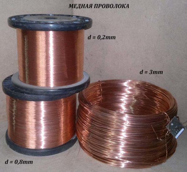 Для индукторного узла понадобится проволока из меди сечением 1,5-2 мм.
