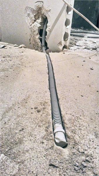 Для кабель-канала с проводом от датчика можно заранее проделать штробу в полу