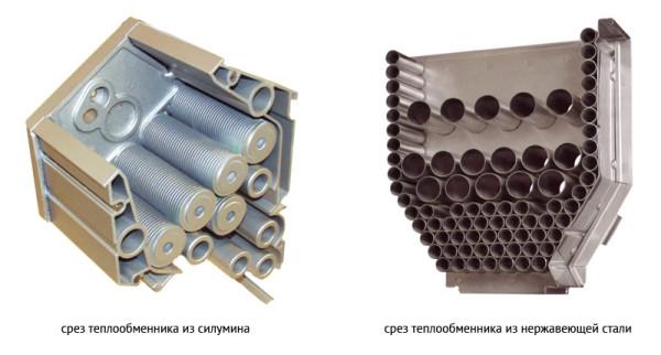 Два вида теплообменников.