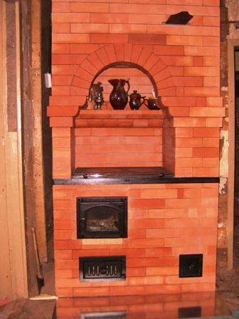двухколпаковая отопительно варочная печь