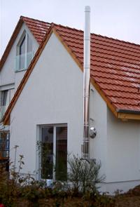 Дымовая труба, установленная в частном доме