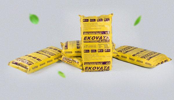 Эковата продается в мешках по 15 кг в спрессованном виде