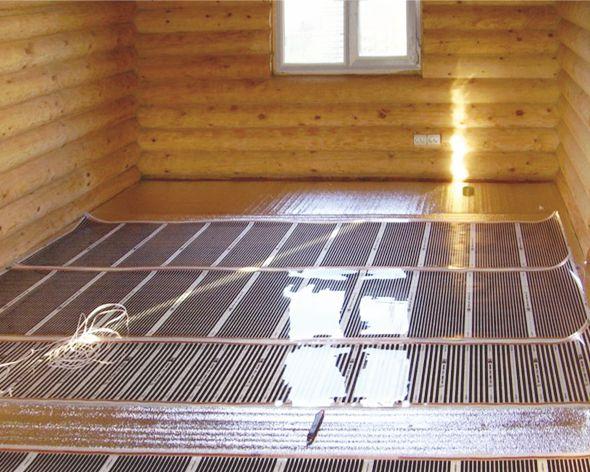Электрический «Теплый пол» в деревянном доме.