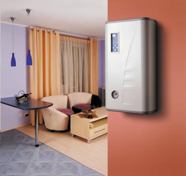 Электрокотел можно разместить в любом месте. Он не привязан к дымоходу или внешним стенам.