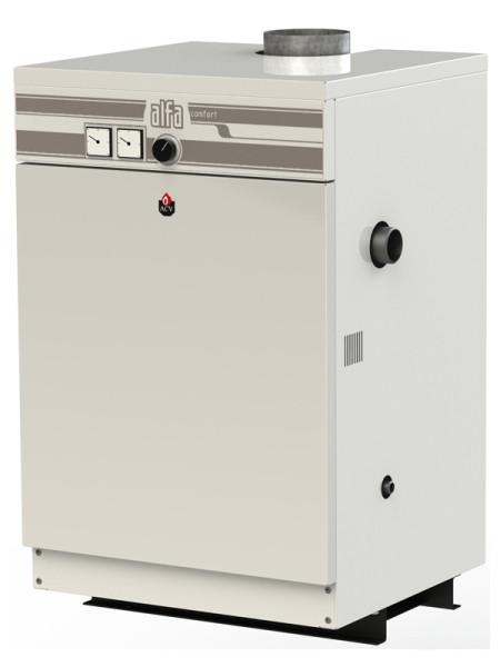 Энергонезависимый напольный котел с тепловой мощностью 32 киловатта.
