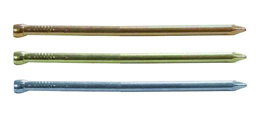 Финишные гвозди имеют небольшую толщину и уменьшенную шляпку