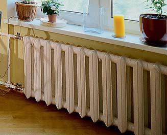 Фото типового чугунного радиатора.