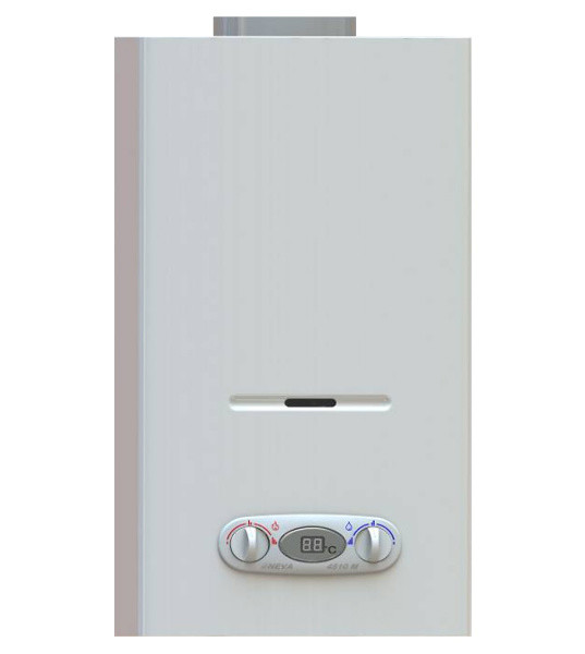 Газовая колонка с электронным розжигом и индикатором температуры.