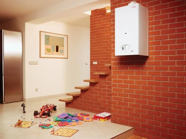 Газовое настенное оборудование в интерьере квартиры