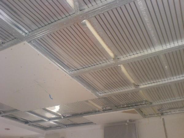 Инфракрасное отопление на потолке