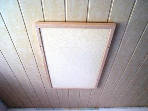 Инфракрасный обогреватель на потолке