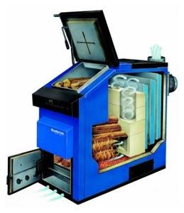 Классический твердотопливный генератор теплоты от Будерус