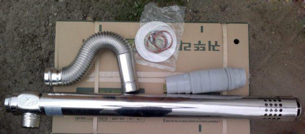 Коаксиальные трубы самые удобные и не дорогие.