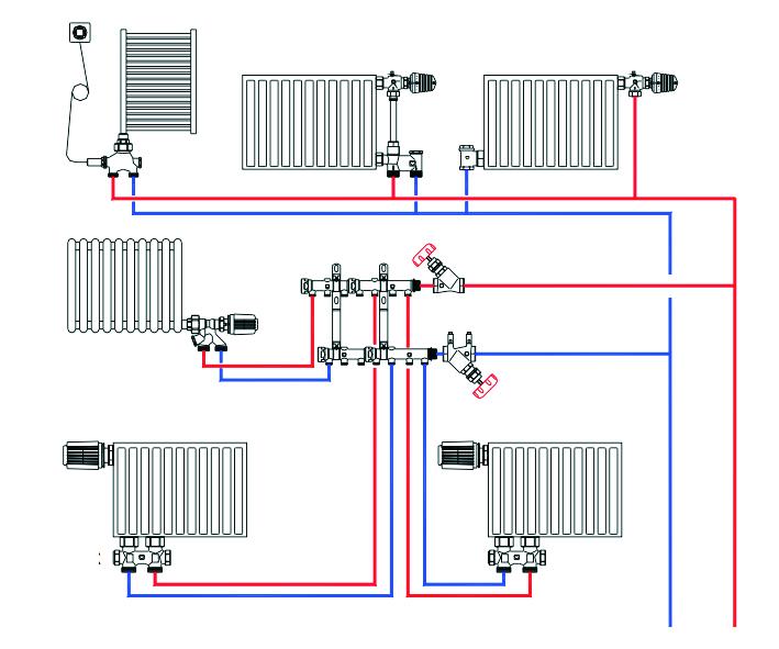 Схема системы отопления видео фото 382