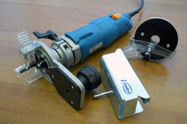 Комплект профессионального оборудования для фрезеровки оконного паза под уплотнитель