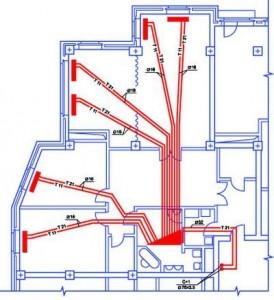 лучевая система отопления двухэтажного дома