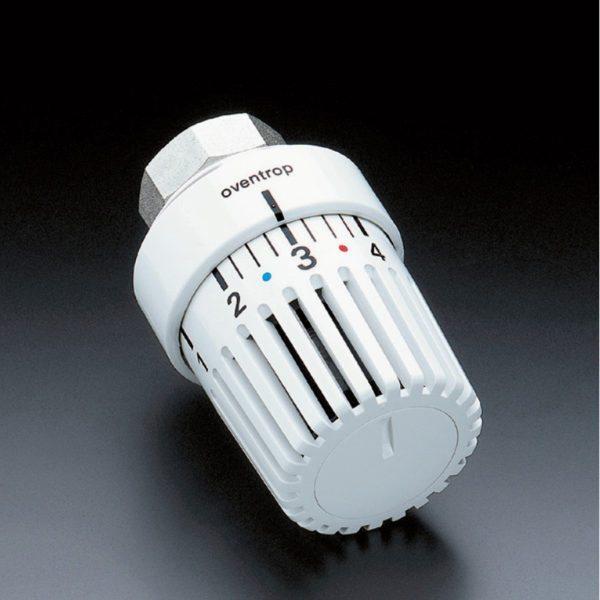 Механическая термоголовка задает не точную температуру, а некий абстрактный уровень нагрева воздуха.