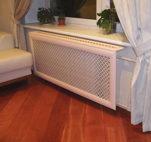 металлические навесные экраны для батарей отопления