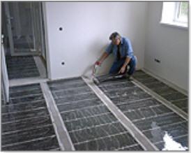 Монтаж инфракрасного плёночного отопления (ИПО)