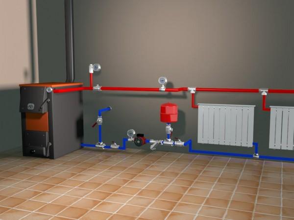 монтаж расширительного бака отопления