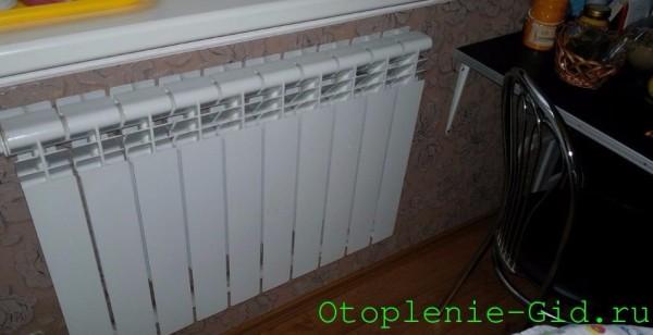 На фото - алюминиевый радиатор, рекордсмен по теплоотдаче на одну секцию.