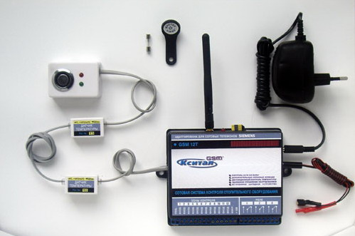 На фото - модуль GSM-управления в базовой комплектации.