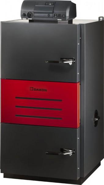 На фото - пиролизный котел Dakon Pyro, способный работать только в системах с принудительной циркуляцией.