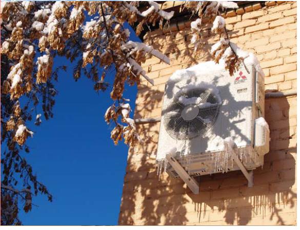 На фото - тепловой насос воздух-воздух. Это прекрасное решение для областей с мягкими зимами.