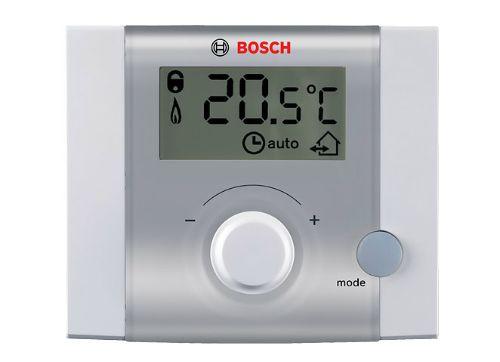 На фото - выносной термостат котла с электронным управлением.