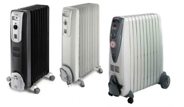 На фото – несколько моделей масляных обогревателей