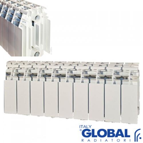 На фото алюминиевая батарея высотой 20 см от компании «Глобал».