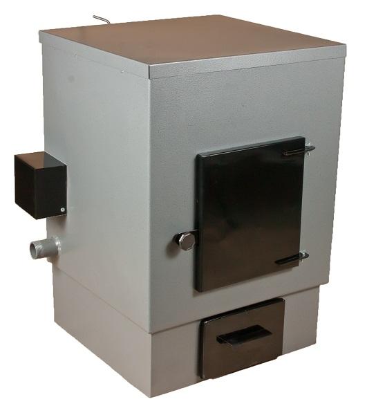 На фото котел АОТВК 20+6. Площадь отопления на твердом топливе - до 170 м2. Мощность электронагревателя - 6 киловатт. Стоимость - 16 900 рублей.