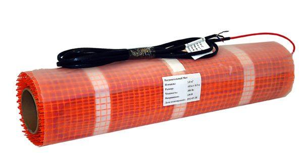 Нагревательный мат — одножильный резистивный греющий кабель на прочной полимерной сетке.