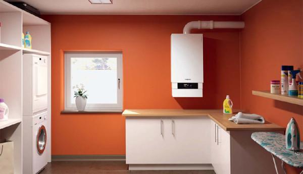 Наиболее распространённое расположение газового котла - на стене в кухне