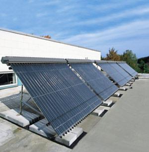 Несколько последовательно установленных солнечных установок