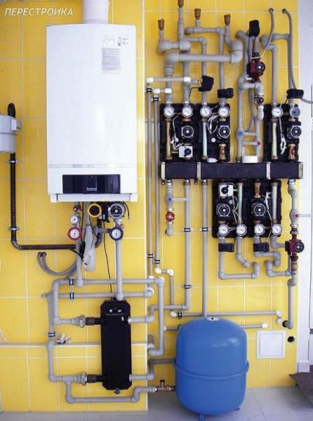 Обогревательная система на газе.