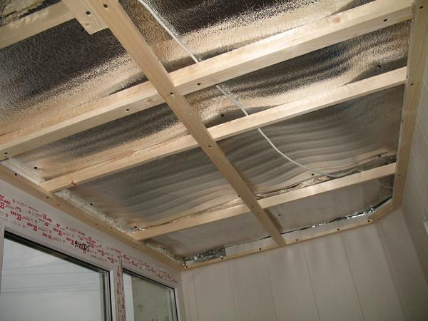Обрешетка на потолке