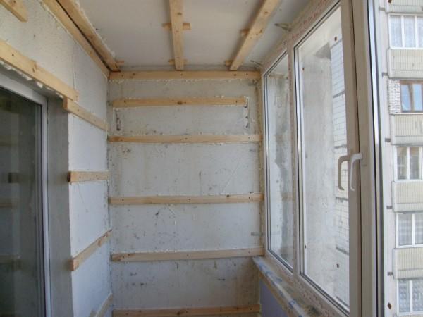 Обрешетка стен для теплоизоляции по каркасу