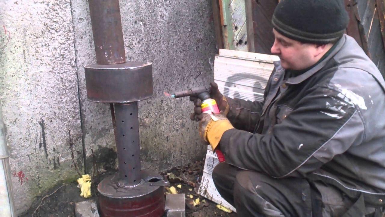 Горелка на отработке своими руками: пошаговая инструкция с фото