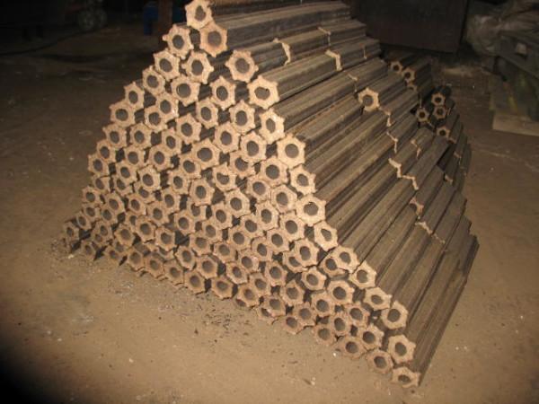 Отопительные брикеты промышленного производства