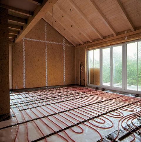 Отопление загородного дома системой «водяной пол»