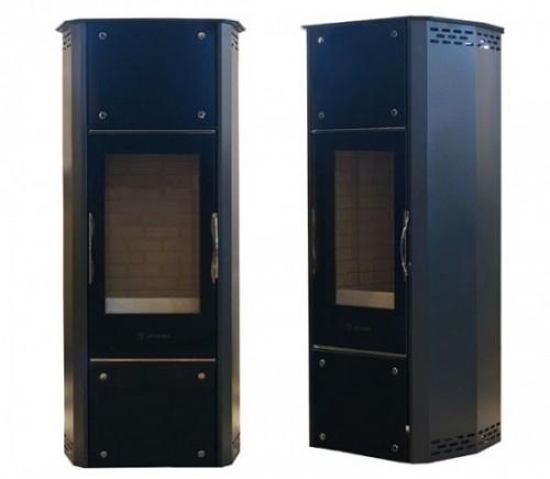 PL-300 Tower Duo - скорее не камин, а газогенераторный котел с прозрачной дверцей. КПД равен 85%.