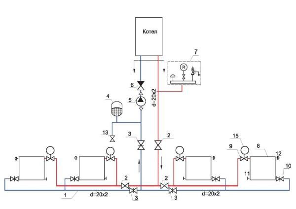 Полная схема отопления в квартире