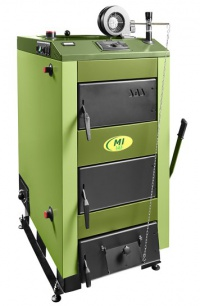Польский отопительный котел на твердом топливе SAS MI работает по схеме верхнего горения.